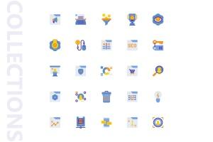 25枚SEO搜索引擎优化营销扁平化矢量一流设计素材网精选图标v2 SEO Marketing Flat Icons插图4
