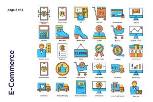 85枚电子商务主题矢量一流设计素材网精选图标 E-Commerce Icon Set插图3