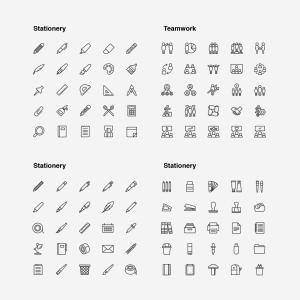 2120枚网站&APP设计师必备的矢量线性一流设计素材网精选图标集 Ultimate Icons Growing Pack插图9