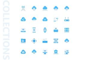网络科技主题扁平化矢量一流设计素材网精选图标 Network Flat Icons插图4