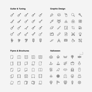 2120枚网站&APP设计师必备的矢量线性一流设计素材网精选图标集 Ultimate Icons Growing Pack插图17