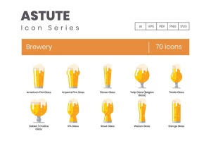Astute系列-70枚啤酒主题矢量一流设计素材网精选图标 Brewery Icons – Astute Series插图1