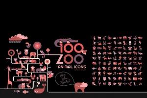 100+动物园动物矢量一流设计素材网精选图标素材包 100+ Zoo Animal Icons插图(2)