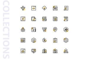 25枚SEO搜索引擎优化营销矢量圆点装饰一流设计素材网精选图标v1 SEO Marketing Shape Icons插图4