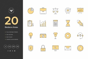 20款创意商业主题矢量一流设计素材网精选图标素材 Creative Business Icons插图1