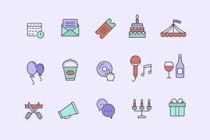 15枚活动事件主题矢量一流设计素材网精选图标 15 Event Icons插图2