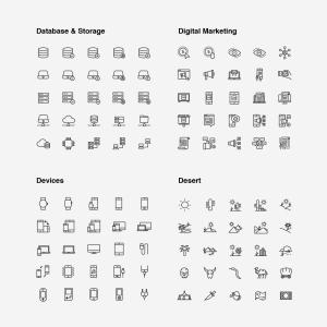 2120枚网站&APP设计师必备的矢量线性一流设计素材网精选图标集 Ultimate Icons Growing Pack插图19