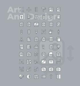 60枚交互设计主题双色调矢量一流设计素材网精选图标 60 Art & Design Icons  –  Two Tone Style插图2