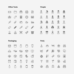 2120枚网站&APP设计师必备的矢量线性一流设计素材网精选图标集 Ultimate Icons Growing Pack插图12