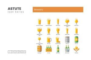 Astute系列-70枚啤酒主题矢量一流设计素材网精选图标 Brewery Icons – Astute Series插图2