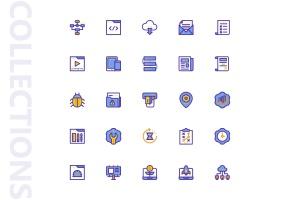 25枚SEO搜索引擎优化营销矢量填充一流设计素材网精选图标v1 SEO Marketing Filled Icons插图4