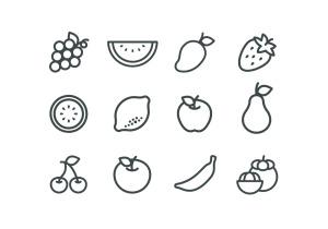 12枚常见水果矢量彩色一流设计素材网精选图标 12 Colored Fruit Icons – Illustrator & Sketch插图(3)