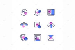 商业与管理线条设计风格矢量一流设计素材网精选图标v2 Business and management – line design style icons插图1