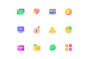 金融/钱包/银行主题彩色矢量一流设计素材网精选图标 Colorful Finance, wallet, bank, Illustration Icons插图2