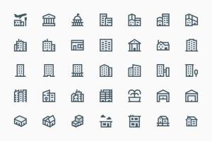 35枚建筑轮廓线矢量一流设计素材网精选图标 Buildings插图2