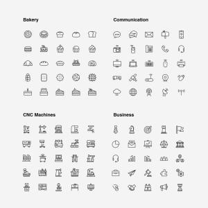 2120枚网站&APP设计师必备的矢量线性一流设计素材网精选图标集 Ultimate Icons Growing Pack插图5