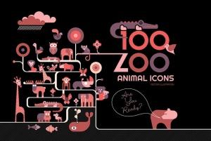 100+动物园动物矢量一流设计素材网精选图标素材包 100+ Zoo Animal Icons插图(3)