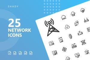 网络科技主题矢量阴影一流设计素材网精选图标 Network Shady Icons插图1
