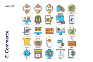 85枚电子商务主题矢量一流设计素材网精选图标 E-Commerce Icon Set插图4
