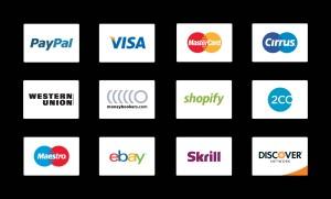 信用卡支付方式矢量线性一流设计素材网精选图标 Credit Card Payment Icons插图2